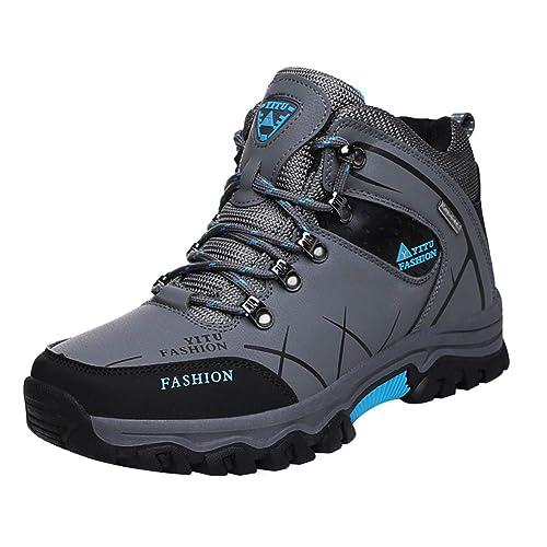 Yudesun Hombre Zapatillas Senderismo Trekking Impermeables - Montar Camping Montañismo Deslizamiento Resistente Al Desgaste Ocio Cómodo: Amazon.es: Zapatos ...