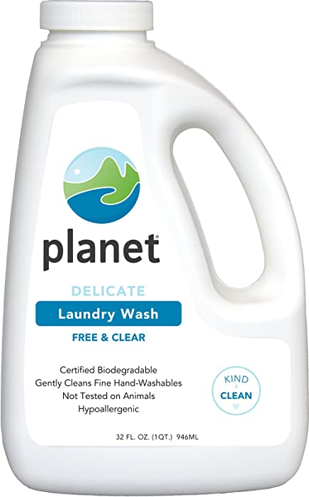 Planet Delicate Laundry Wash, 32 Fluid-Ounce Bottles (Pack of 8)