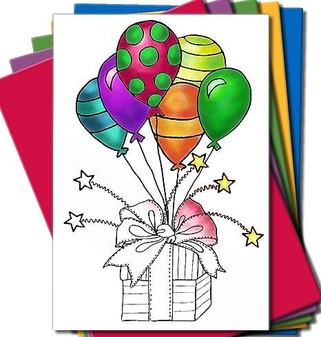 Amazon.com: Colorear para Adultos tarjetas para cumpleaños o ...