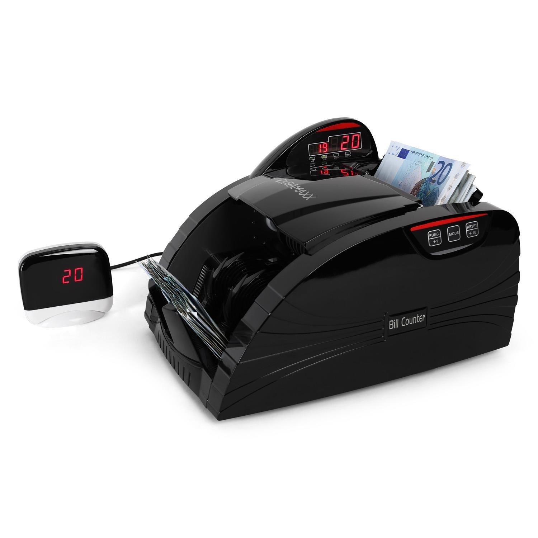 DURAMAXX Rockfeller conta banconote con rilevatore autenticità (triplo sistema di controllo raggi UV,magnete, infrarossi, 1000 banconote/min, display led, funzione bundle, segnale acustico) - bianco