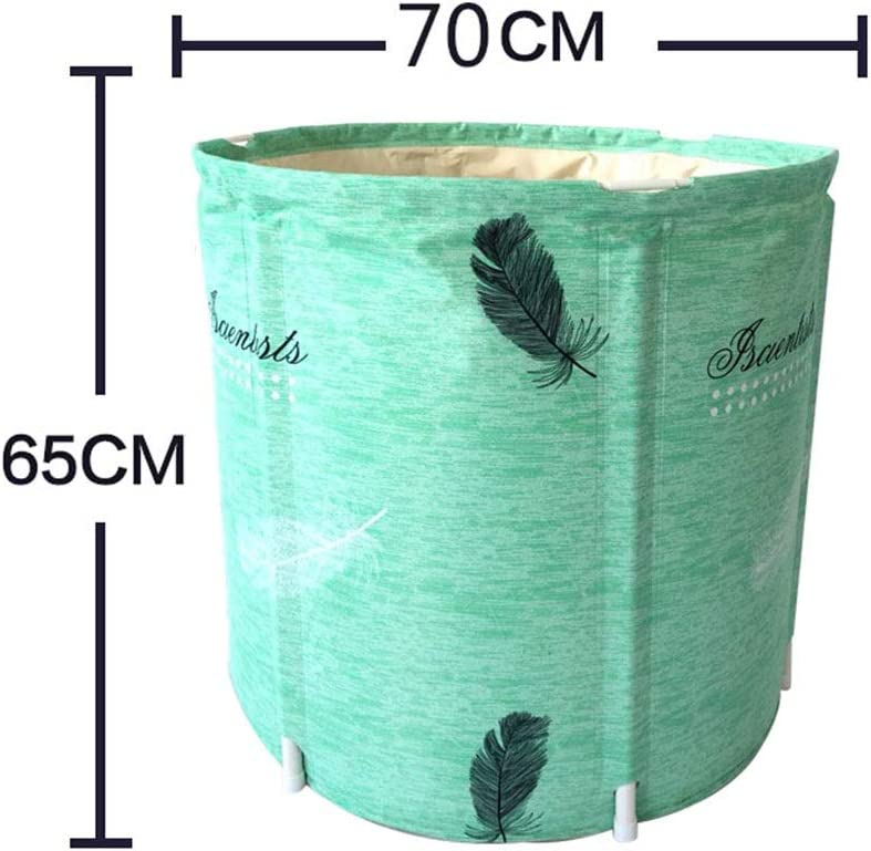 LYM & bañera Plegable Cubo de baño Inflable Plegable Bañera de ...