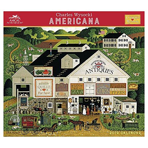 Charles Wysocki - Americana Wall Calendar (2019)