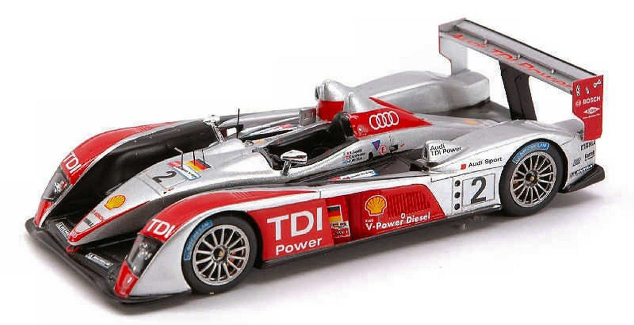 Spark Model S0682 Audi R 10 N.2 LM 2007 1:43 MODELLINO Die Cast Model