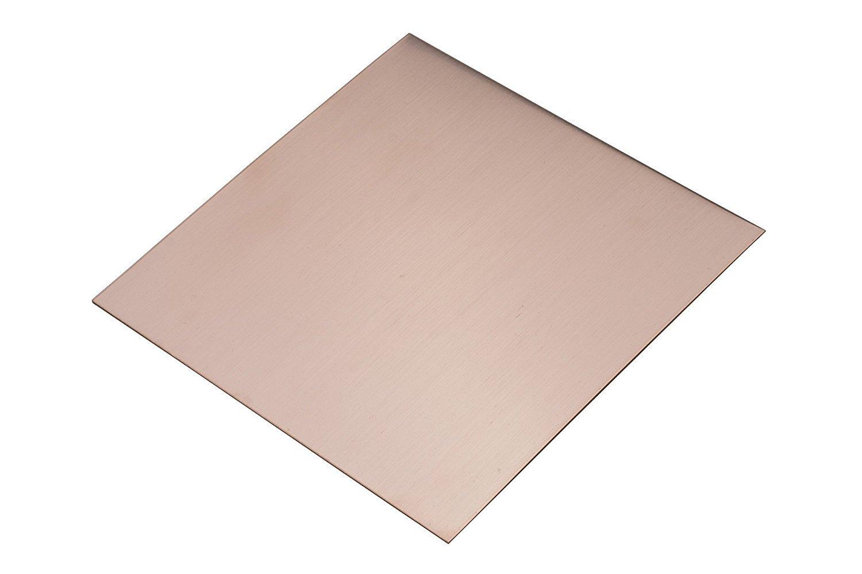 6 x 6 Copper Sheet - 24 Gauge Jewelry Making Metal Forming Stamping Embossing Etching Blanks PMC Supplies MET-705.24