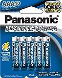 Panasonic Energy Corporation LR03XP/10B Platinum Power AAA Alkaline Batteries, Pack of 10