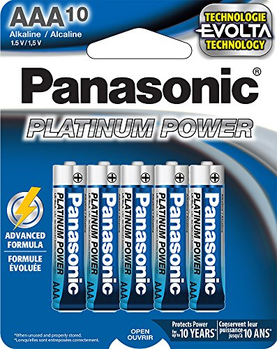 Panasonic Energy Corporation LR03XP/10B Platinum Power AAA Alkaline Batteries, Pack of 10