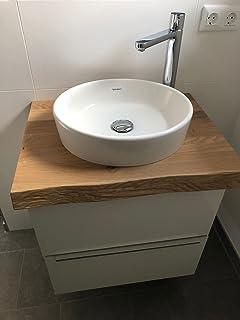 Waschbecken mit unterschrank rund  Amazon.de: Design Badezimmer 600mm Waschtisch Unterschrank Eiche ...