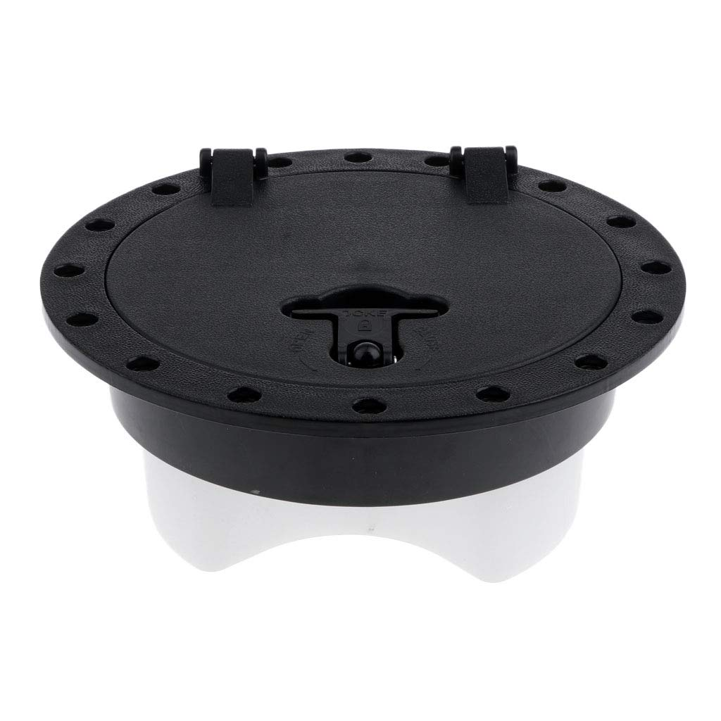 Kayak T TOOYFUL Circular Deck Plate Hatch Cover for Boats Watercraft Caone Fishing Gear with Watertight Tackle Storage Box SUP Surfing Board Marine