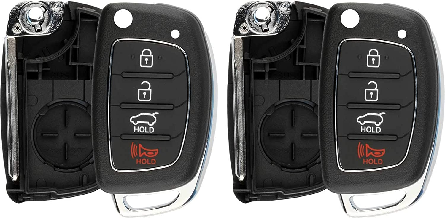 SINGLE Car Key Fob For 2016 2017 2018 2019 Hyundai Tucson Flip Remote FCCID TQ8-RKE-4F25;by AUTO KEY MAX