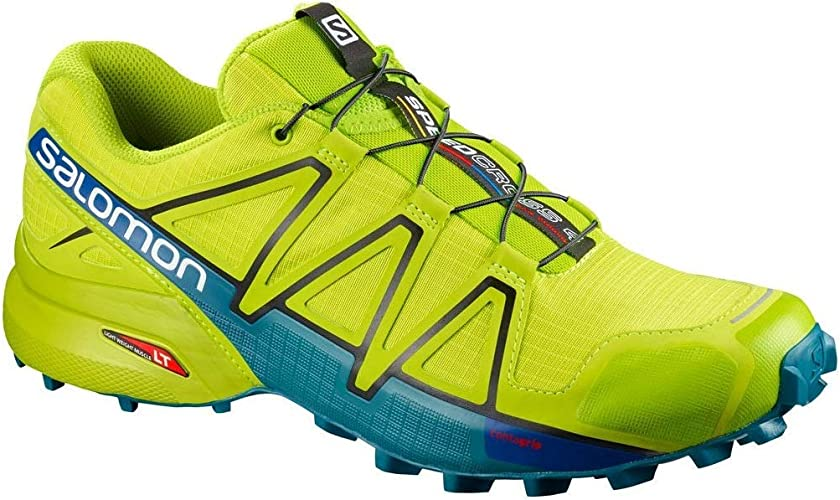 SALOMON Speedcross 4 - Zapatillas para correr para hombre, color Verde, talla 11.5 UK: Amazon.es: Deportes y aire libre