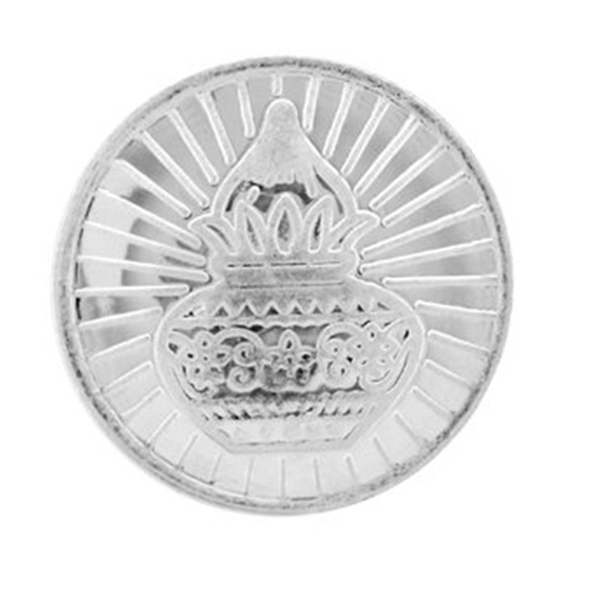 Ananth Jewels BIS Hallmarked 999 Purity Silver Coin Kalash And Swastik 1 Gram x Pack of 5