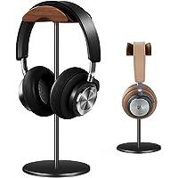 Uchwyt na słuchawki, stojak na słuchawki z aluminium i czarny orzech włoski, do gamingu, uchwyt na słuchawki nauszne z…