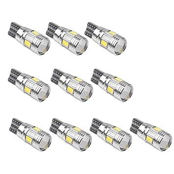 Gazechimp 10 Piezas de Bombilla LED Accesorios para Motocicleta Canbus Disipador Térmico Integrado Bajo Consumo de Energía Baja Temperatura Universal: ...