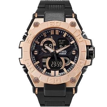 SMAEL Relojes Deportivos Relojes Impermeables para Hombres Relojes De Pulsera De Cuarzo Military LED Watch Shock 8003,E: Amazon.es: Deportes y aire libre