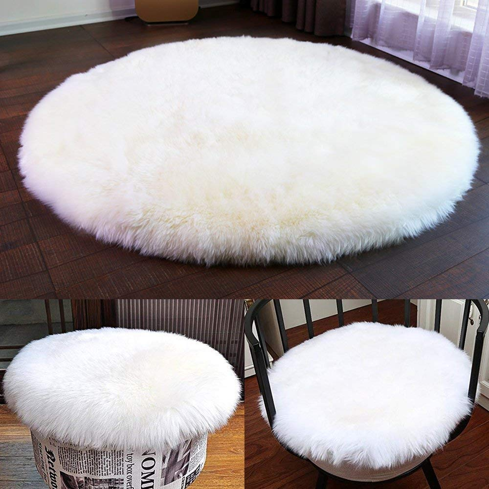 Faux Plush Fur Area Rugs for Bedroom,Office,Travel. Soft Faux Sheepskin Chair Cover Seat Cushion Pad ST love