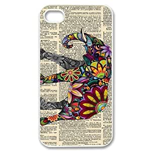 Custom New Cover Case for Iphone 4,4S, Indian Elephant Phone Case - HL-R645175