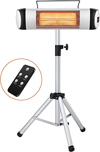 Kismile Electric Patio Heater,Portable Outdoor Heaters,Infrared Patio Heater