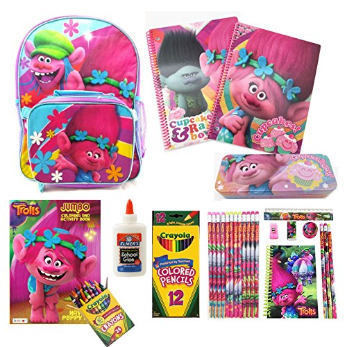 Dreamworks Trolls 16 Backpack w/ Detachable Lunch Bag