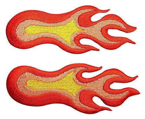 Set of 2 Orange Fireballs Flame Pair Medium 3.5