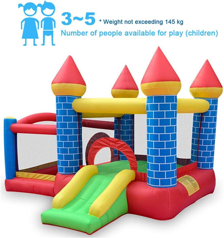 4 en 1 toboganes inflables aire libre, material extra grueso duradero cosido con soplador incluido, diversión familiar en el patio trasero, se adapta a los niños al aire libre Jumper Toys Party