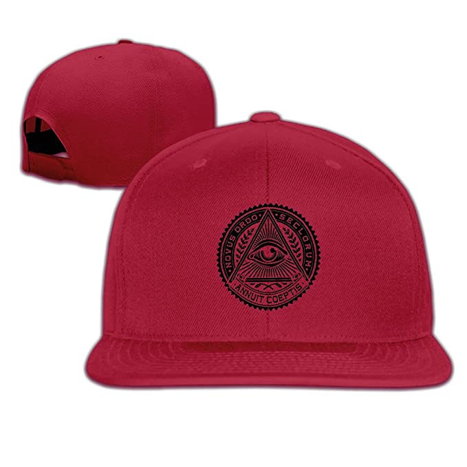 537a2c702ce Flat-along Adjustable Illuminati Secret Society Eyes Pyramid Caps Winter  Hats