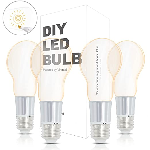 Intensidad regulable bombillas LED DIY, vinmori Wedding Party luz E26 Base caliente Mini LED candelabro