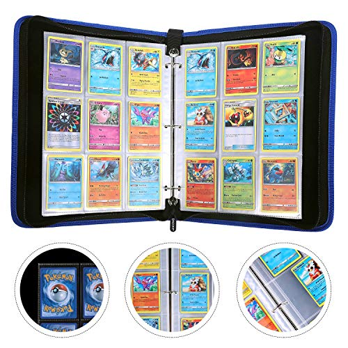 DACCKIT Carrying Case Compatible with Pokemon Trading Cards, Cards Collectors Album with 30 Premium 9-Pocket Pages, Holds Up to 540 Cards by DACCKIT (Image #2)