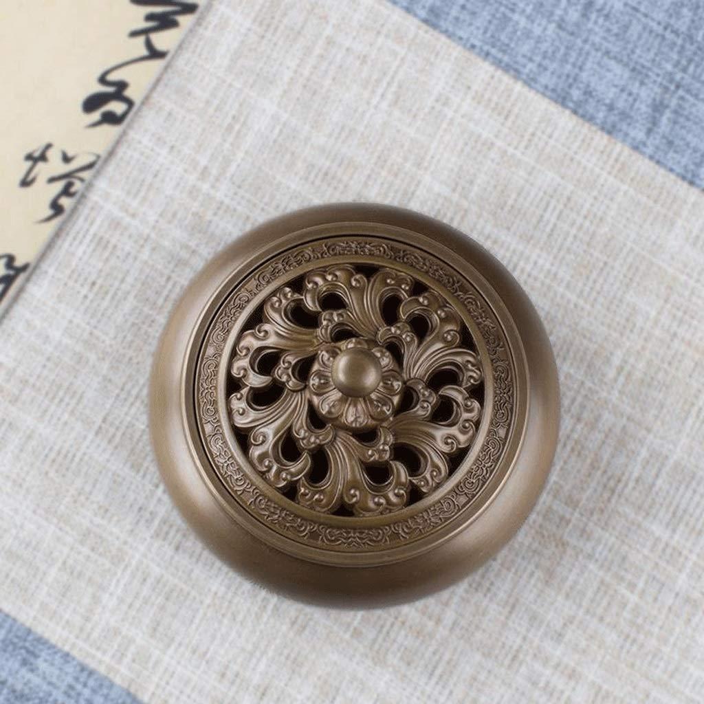 TangMengYun Ceramic Incense Burner Antique Dish Incense Burner Household Incense Holder Incense Burner Tea Ceremony Indoor Aromatherapy (Size : 10.8cm) by TangMengYun (Image #4)