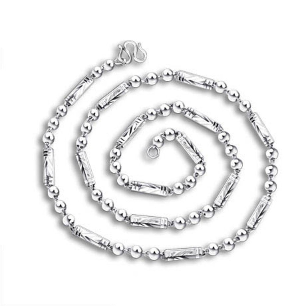 99 Pure Silver Mens Necklaces//The Korean Version of The Leading Chain Heavy Single Chain