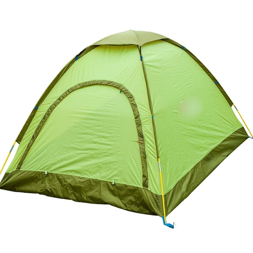 YaNanHome Festzeltzelt Zelt des Zeltes im Freien 1-2 Leute, die Zeltzeltpaarzelt Multi-Farbe optional kampieren (Farbe : Grün, Größe : 200  135  110cm)