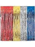 Metallic-Türvorhang Lametta Glamour 241 cm silber