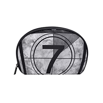 38bdb75902 Amazon.com   LORVIES Film Countdown 7 Cosmetic Pouch Clutch Makeup Bag  Travel Organizer Case Toiletry Pouch for Women   Beauty