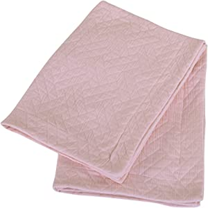 Threadmill Home Linen 100% Cotton Coverlet Shams Soft Breathable - Pre-Washed Jacquard Matelasse Set of 2 Standard Size Shams English Rose