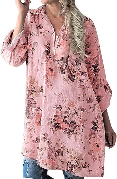 Qingsiy 2019 Blusa para la Playa Largo Bohemio Hippie Vestido Estampado Mujer Tunica Piscina Kaftan Kimono Vestidos Maxi Verano Ropa de Baño Camisolas y Pareos Bikini Coverup: Amazon.es: Ropa y accesorios