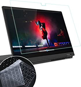 """MUBUY 14"""" AntiBlueLight Anti Glare Screen Protector Fit Lenovo Flex 5 14"""" 2-in-1 Touch-Screen Laptop with Gift TPU Keyboard Cover, Reduces Eye Strain Help You Sleep Better, Reduce Fingerprint"""