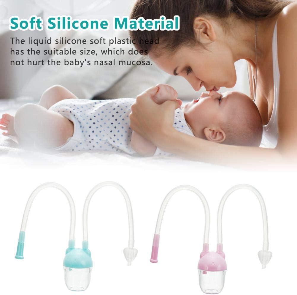 Facile /à enlever en Silicone Souple Design Soft Head pour Nouveau-n/é Rosa Minear T/étine Nasal avec Valve Anti-Retour