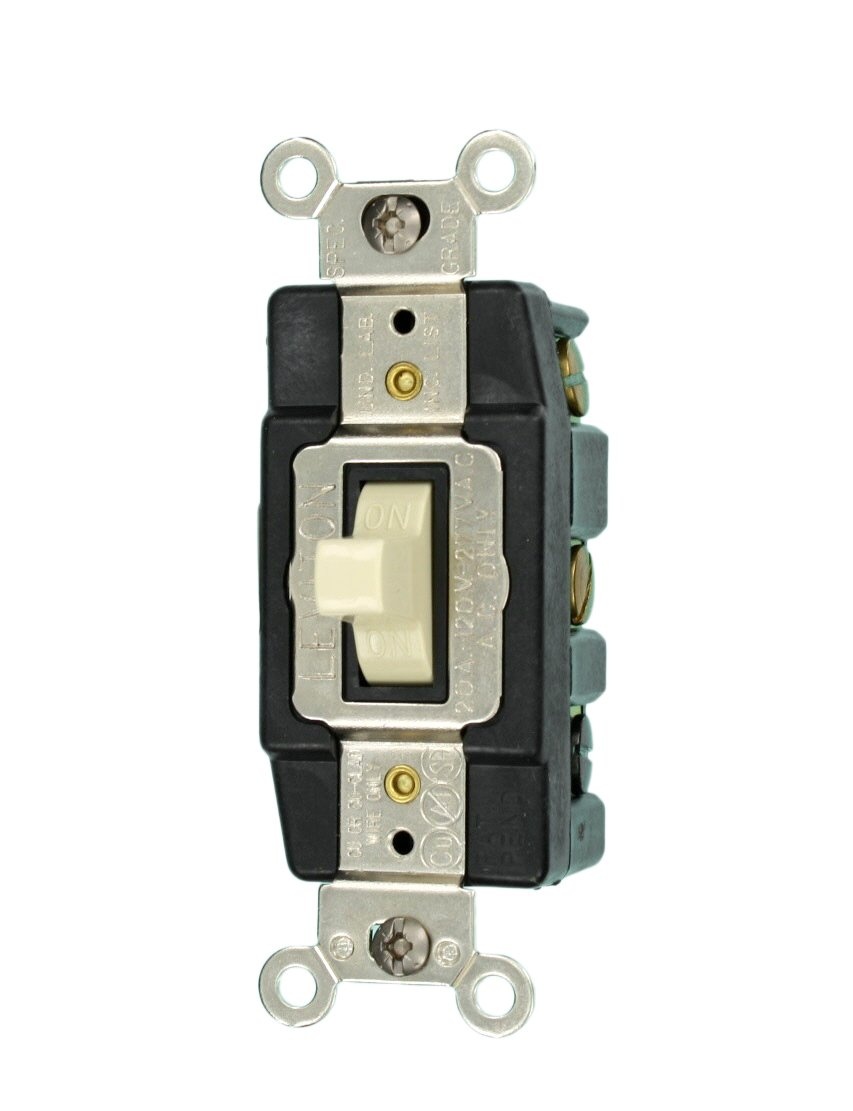 Leviton 1286 W 20 Amp 120 277 Volt Toggle Double Pole Ac Quiet Light Switch Home Wiring Diagram Current Loads White Wall Switches