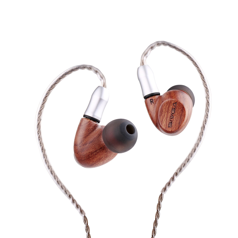 SIVGA SW001 Wooden Dual Driver Earphones, Rosewood