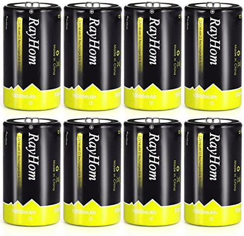 Rechargeable Batteries 10 000mAh 8Pack product image