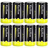 Rechargeable D Batteries 10,000mAh 8Pack - RayHom Rechargeable D Batteries 10,000mAh 1.2V Ni-MH High Capacity High Rate D Cell Size Battery with Box (8 Pack)