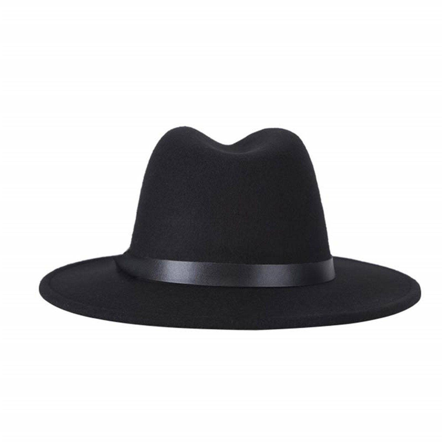 Zesoma Womens Fedora Hat for Laday Wide Brim Jazz Church Cap Fedora Top Hat