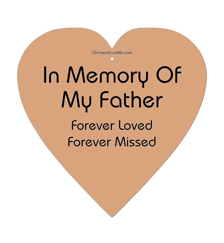 19-Inch Bronze Chimesofyourlife fa-heart-19-bronze Father Heart Memorial Wind Chime