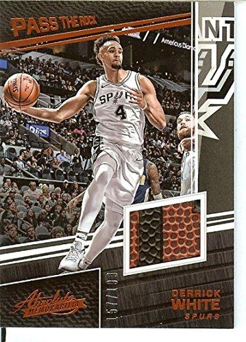 - 2017-18 Absolute Pass the Rock Basketball Memorabilia #21 Derrick White MEM/199 Spurs