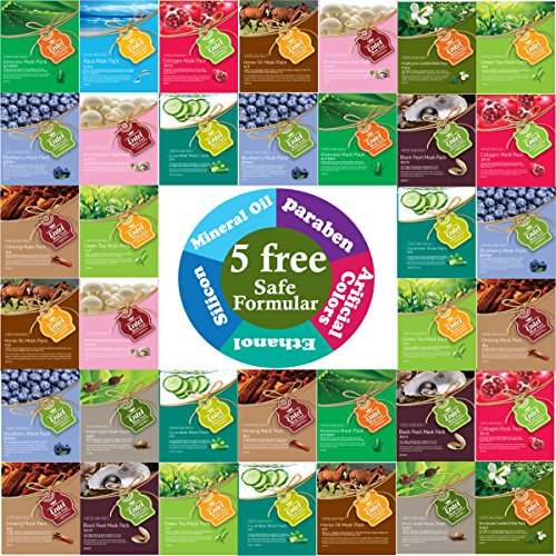 entel-36-pcs-combo-pack-premium-korean-essence-facial-mask-sheet-12-types-x-3-pcs-five-chemical-free