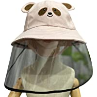 Kids Protective Hat Full Face Shield Fisherman Hat Safety Cover Windproof Dustproof Face Protection for Children