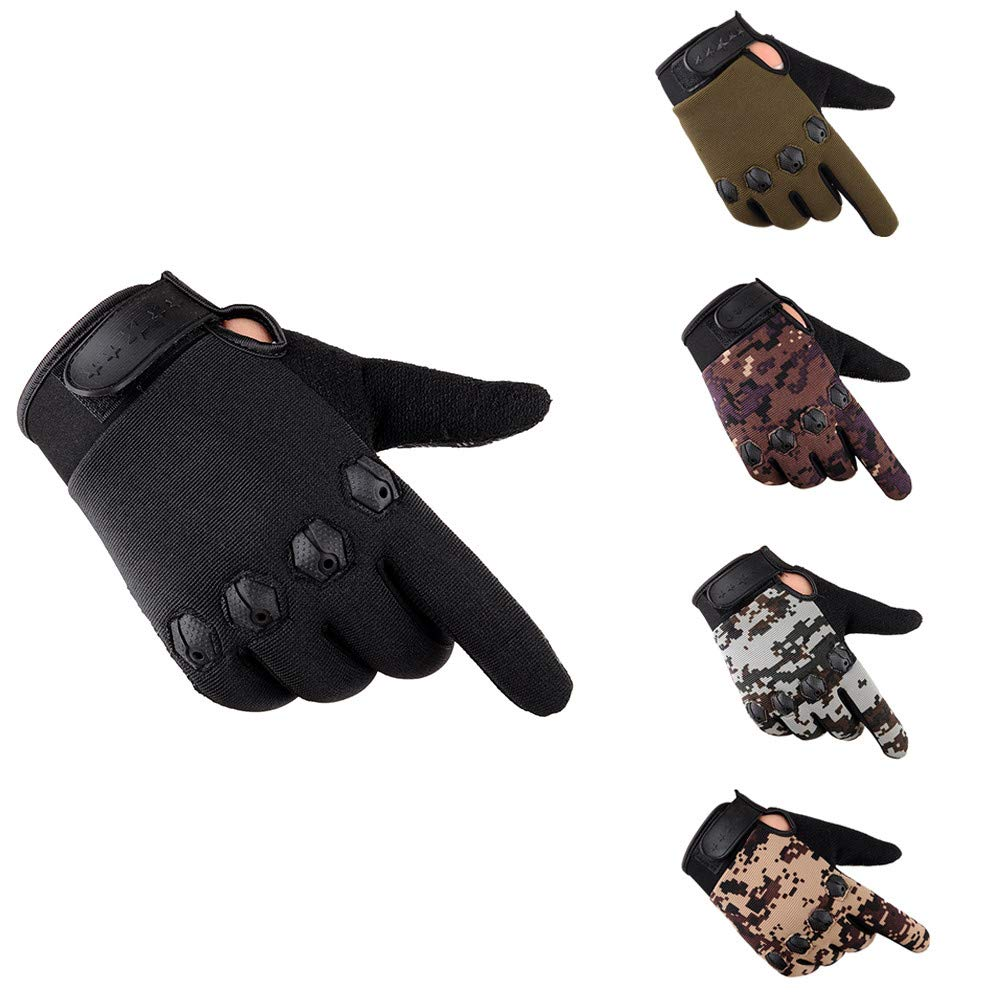 Jiusike Men Gloves Full Finger Breathable Sports Cycling Protection Mittens