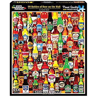 White Mountain Puzzles 99 Bottles of Beer on The Wall - 1000 Piece Jigsaw Puzzle: Toys & Games
