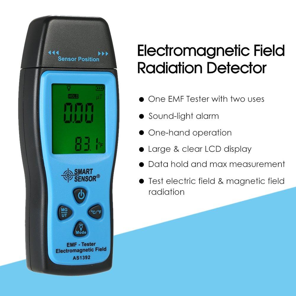 EMF Meter, KKmoon Smart Sensor Handheld Mini Digital LCD EMF Tester Electromagnetic Field Radiation Detector Meter Dosimeter Tester Counter: Amazon.com: ...