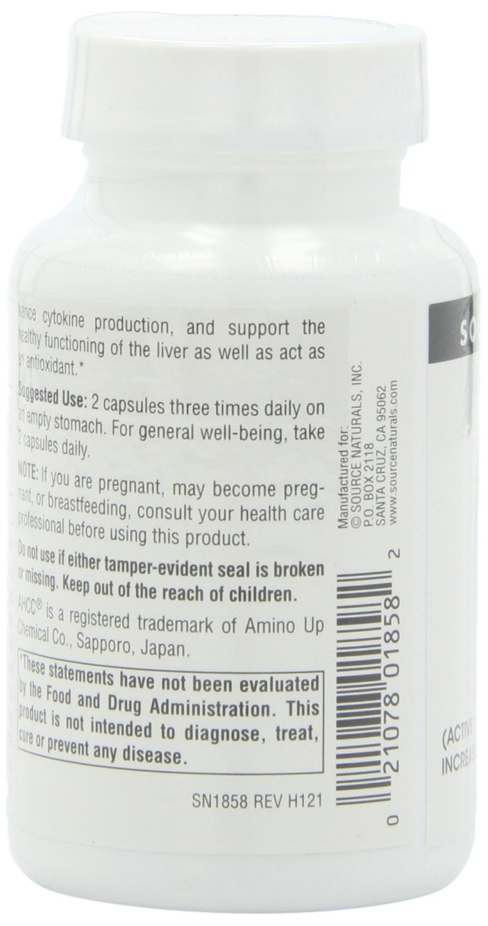 SOURCE NATURALS Ahcc Active Hexose Correlated Compound 500 Mg Capsule, 60 Count by Source Naturals (Image #7)