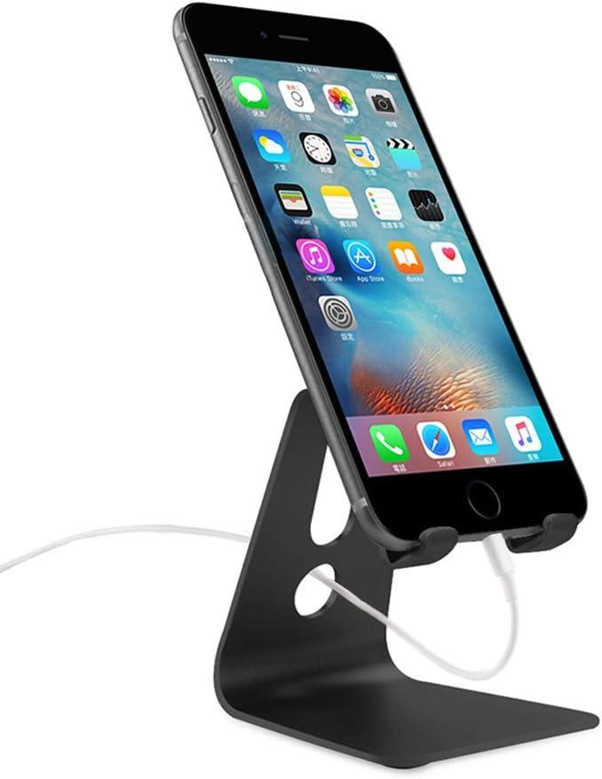 Soporte Móvil Teléfono Metal, WindTeco Aluminio Universal Soporte de Teléfono Multiángulo para 4-8 pulgadas de Smartphone y Tablet, E-Book Reader: Amazon.es: Electrónica